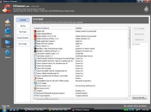 CCleaner Uninstall Screen
